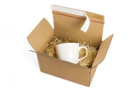 Versandverpackung mit Selbstklebeverschluss, Beispielanwendung