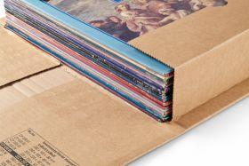 Robuste Versandverpackung mit Sicherungslaschen, braun