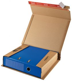 Flexible Ordnerversandverpackung, mit doppeltem SK-Verschluss