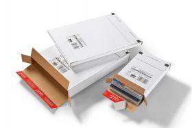 Kurierpaket, weiß, Maxi - und Großbriefformat